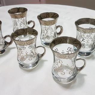 12 pcs Arabic Glass Tea Set - $60