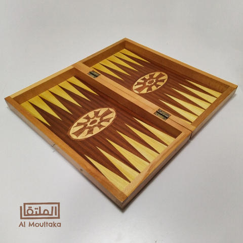 Engraved Wood backgammon board $45