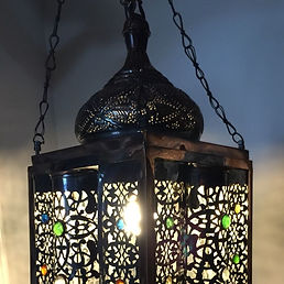 Moroccan Brass Decorative Light Unit