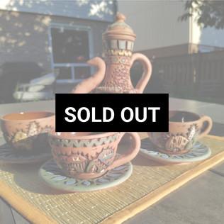 Egyptian Clay Tea set