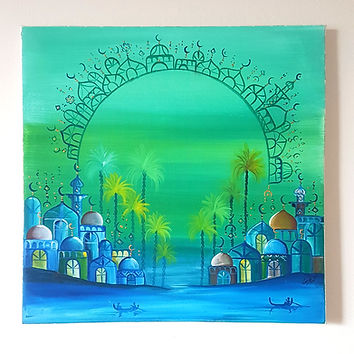 Middle Eastern Canvas Painting wall decor