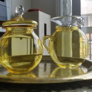 Yellow sugar and creamer  - $15