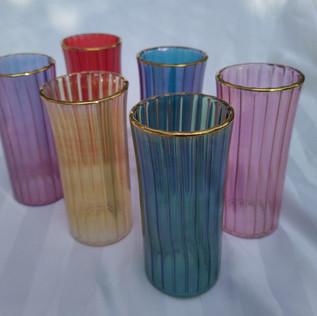 6 pcs Moroccan colored juice set - $45