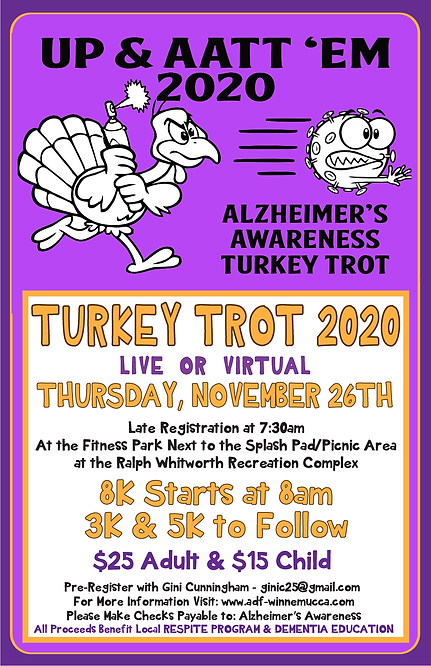 Turkey Trot 11X17 Poster 2020- UPDATED N