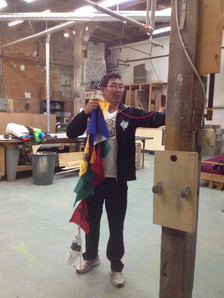 Journey Flag-making at McWood Studios