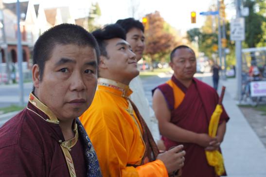 Lobsang Tenpa, Sungjang Rinpoche, Tsultrim Nyampo and Lama Geshe