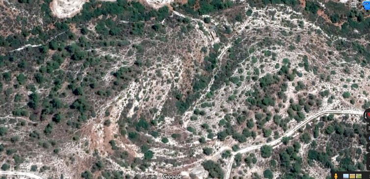Aerial view of planned amphitheatre area
