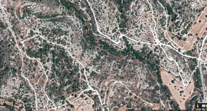 Aerial view of land