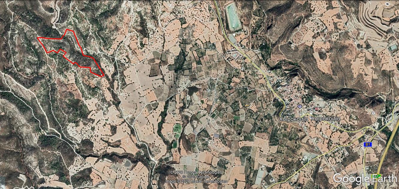 Land location from Chirokitia Village