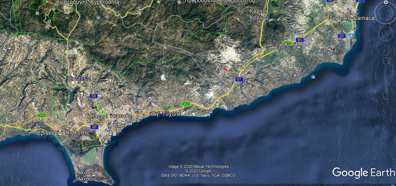 Location of land