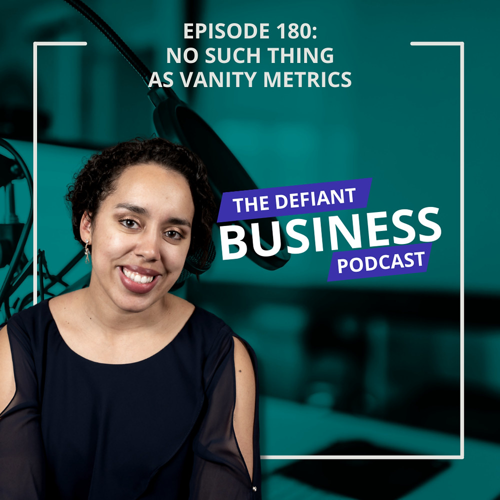 The Defiant Business Podcast episode cover with photo of Ruthie Bowles