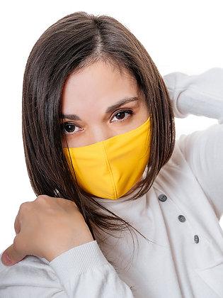 Многоразовая многослойная маска с карманом для фильтра МЗМ_ВЗР/желтый