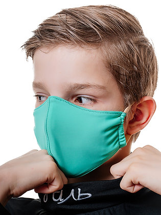 Многоразовая многослойная маска с карманом для фильтра МЗМ_подр/зеленый