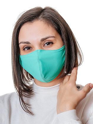Многоразовая многослойная маска с карманом для фильтра МЗМ_взр/зеленый. Мятный