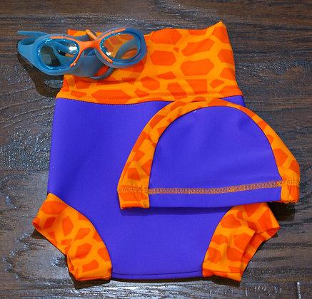 Комплект плавки-подгузники АВ315-3 Кайра Спорт + шапочка + очки