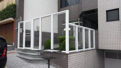 Fachada e cobertura com vidro