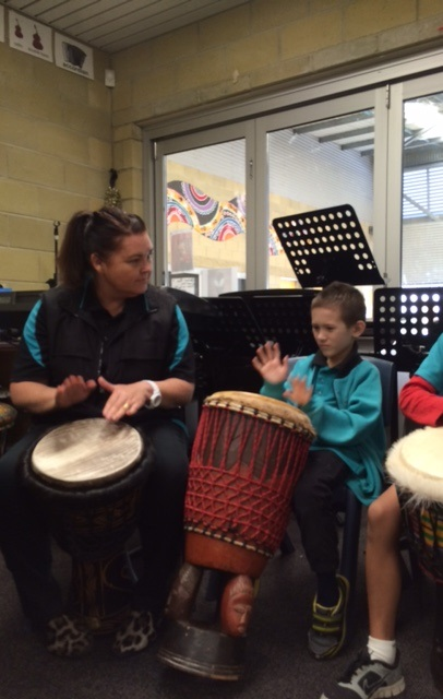 Student Drumming
