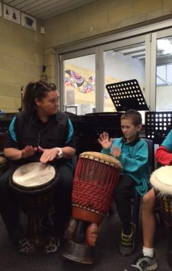 Student Drumming