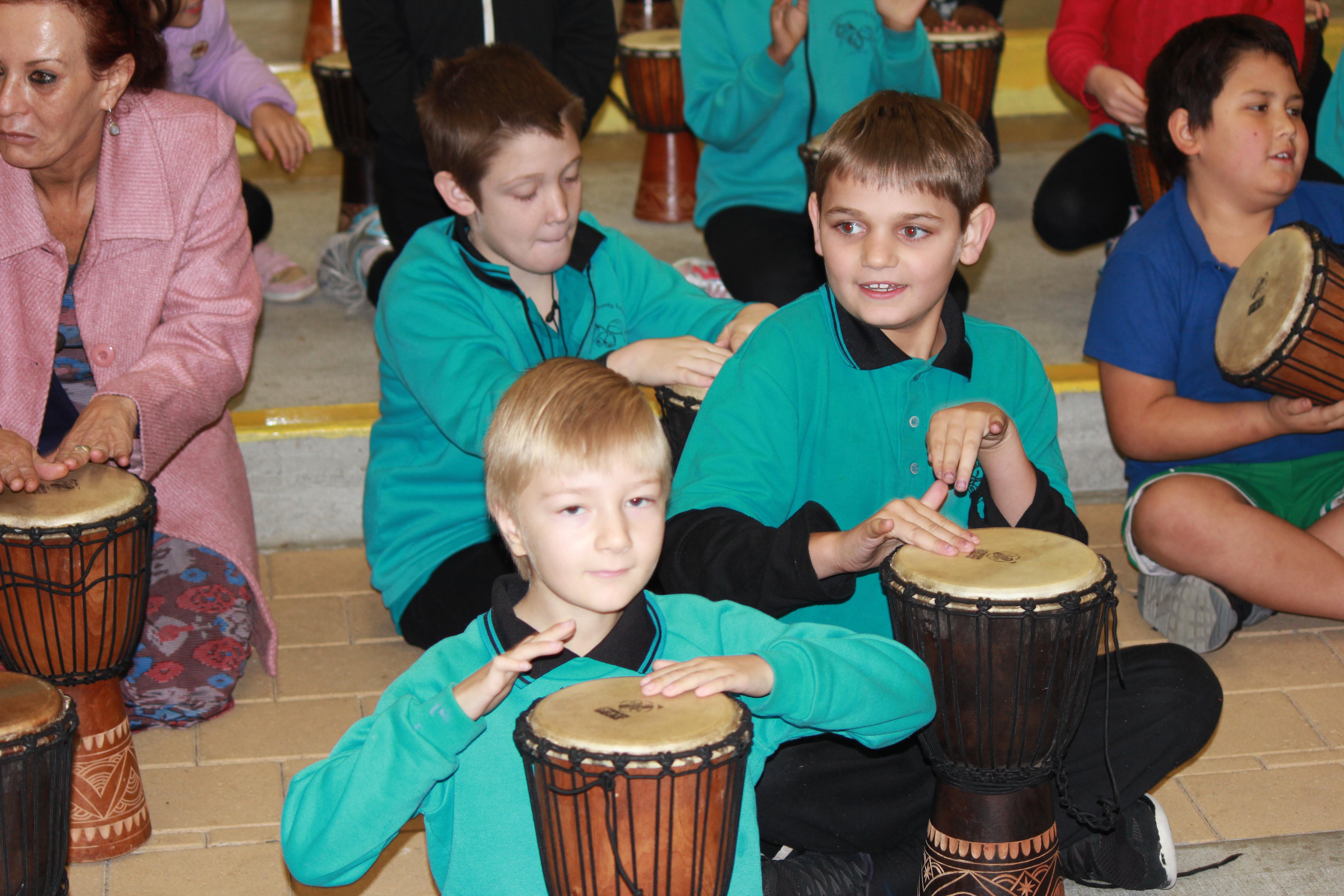 Drumming - Ben, Aiden n Memphis