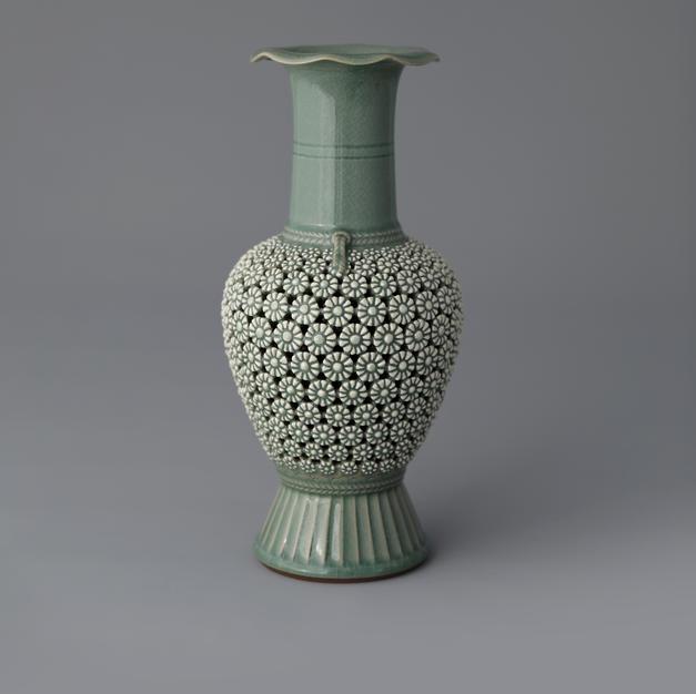 Celadon Double Open-work, An Acorn Tree Series
