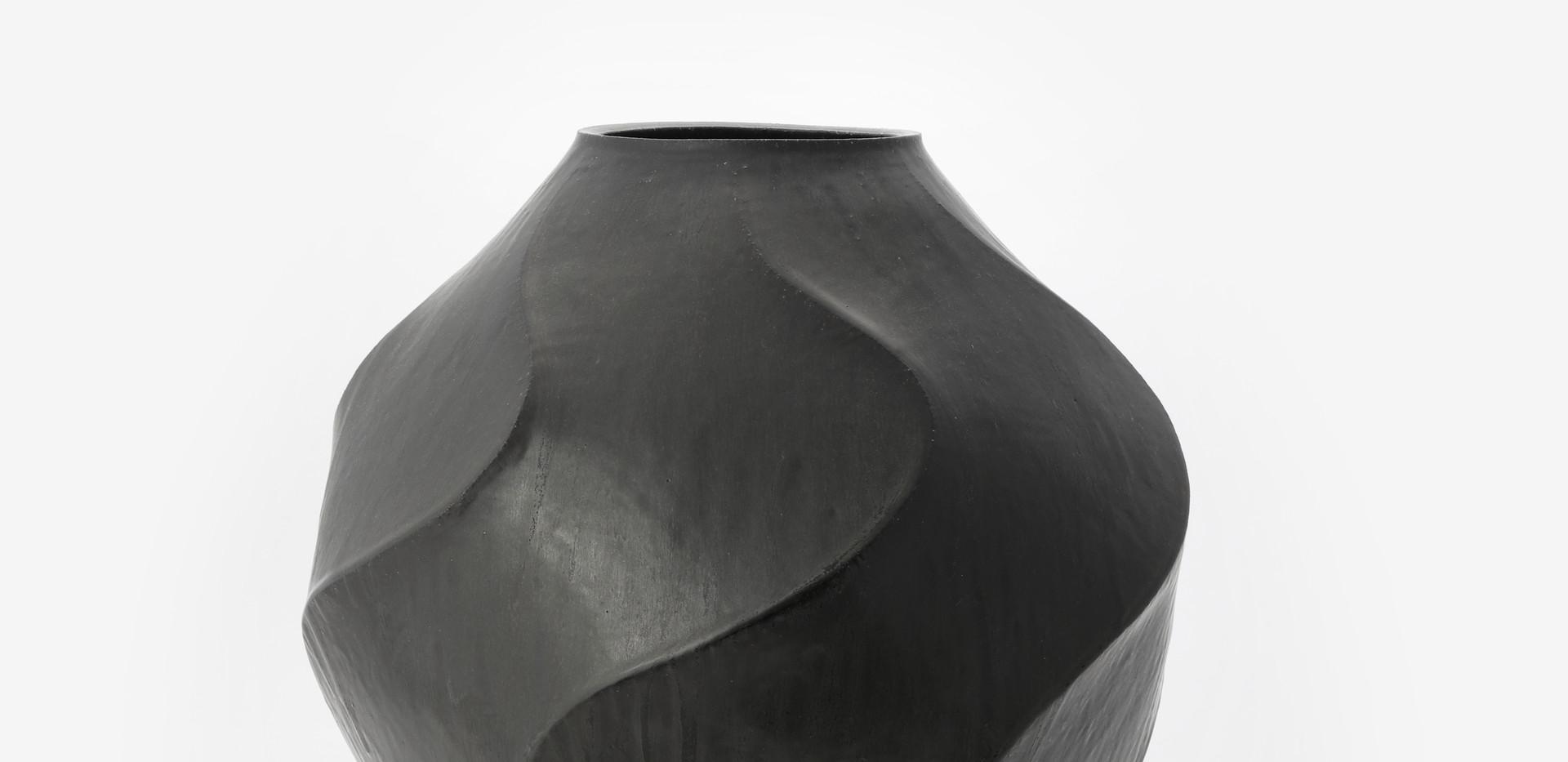 Faceted Vase with Black Glaze, 2020