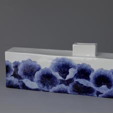 White Porcelain Vase with Lotus Decoration