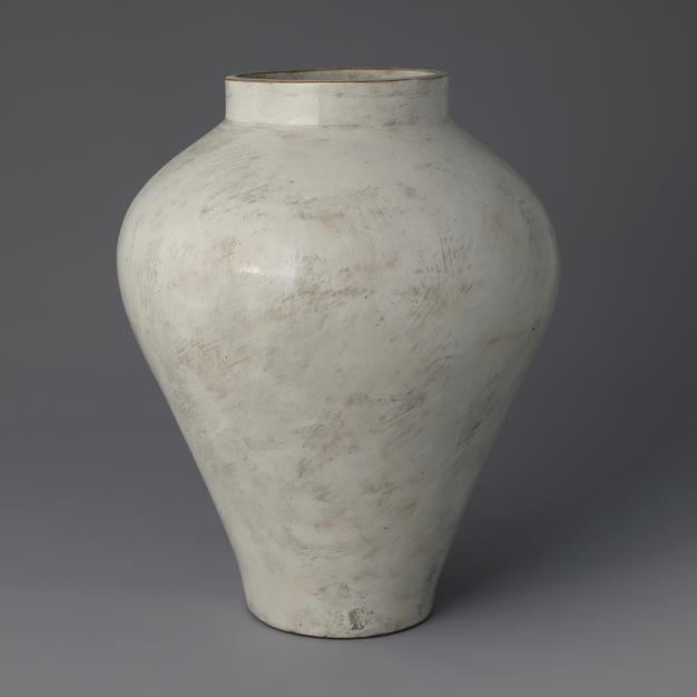 Buncheong Jar with White Slip Decoration