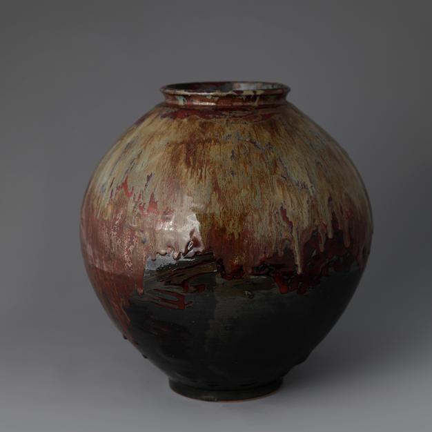 Moon Jar with Cheonmok Glaze
