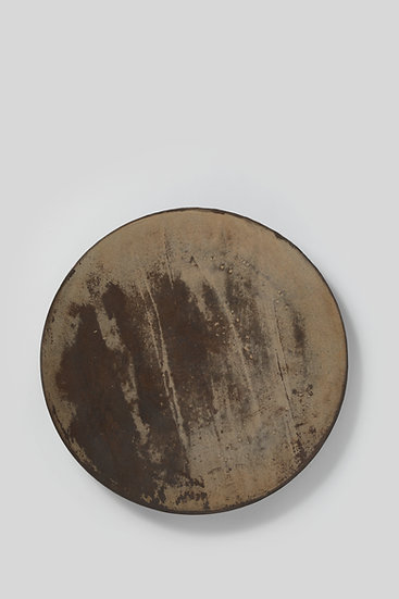 Buncheong Plate With White Slip-coated Design 분 장수박지문대반 1