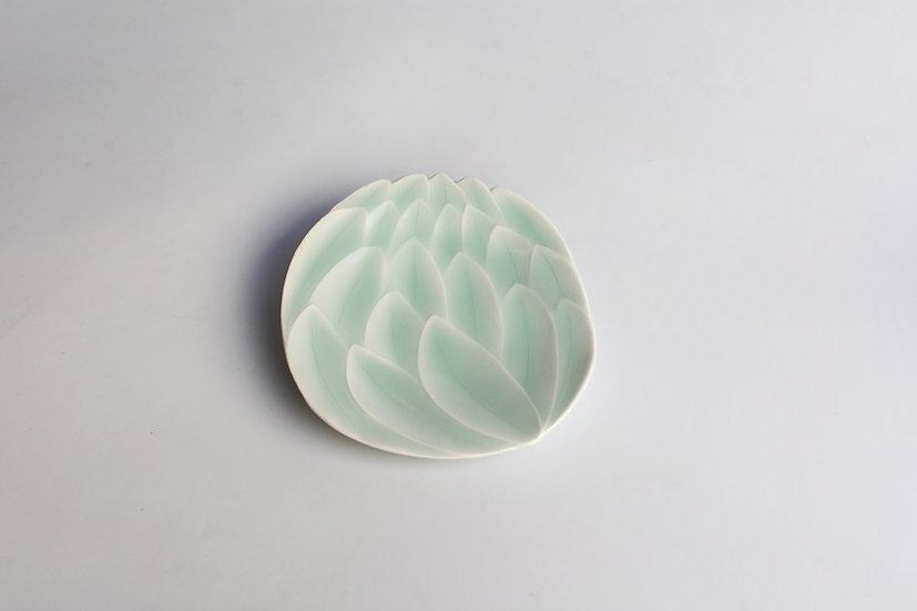 Flat Celadon Lotus Dish