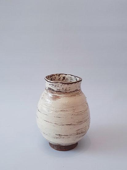 Buncheong Vase with White Slip Decoration