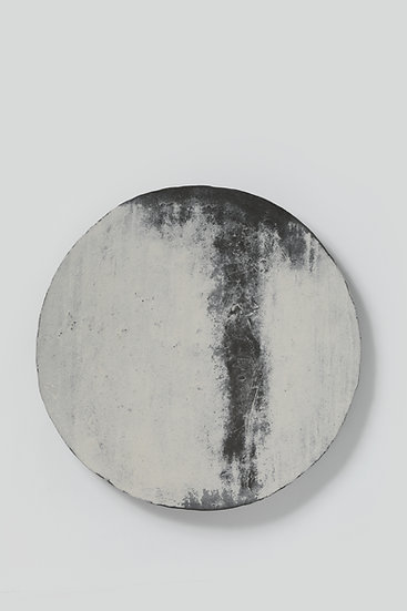 Buncheong Plate With White Slip-coated Design 분 장수박지문대반 2