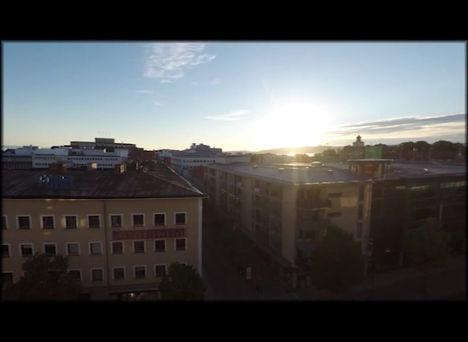 Solen går upp över Jönköping