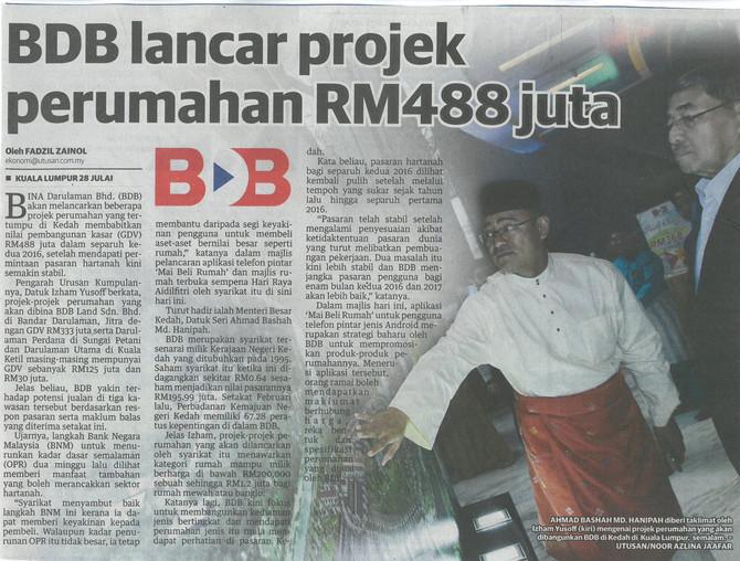 BDB Lancar Projek Perumahan RM488 juta