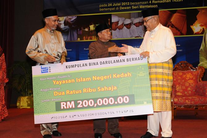 Donation to Yayasan Islam Negeri kedah