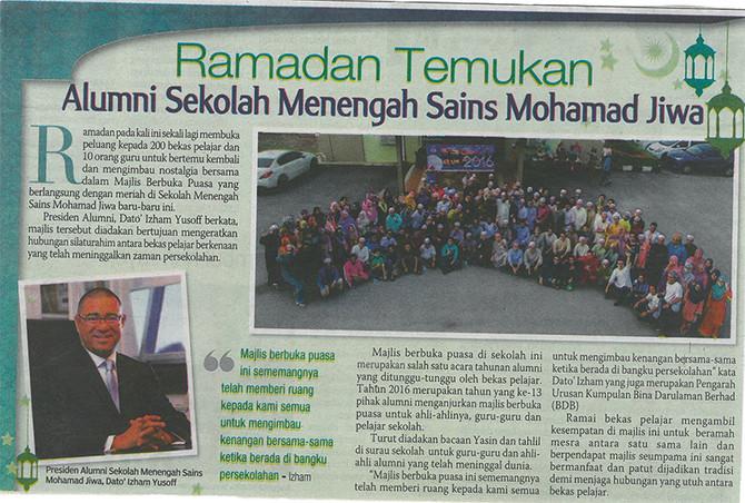Ramadan Temukan Alumni Sekolah Sains Mohamad Jiwa