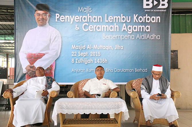 Majlis Penyerahan Lembu Korban Sempena Hari Raya Aidiladha 1436H di Jitra Kedah
