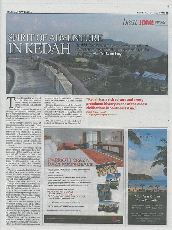 Spirit of Adventure in Kedah