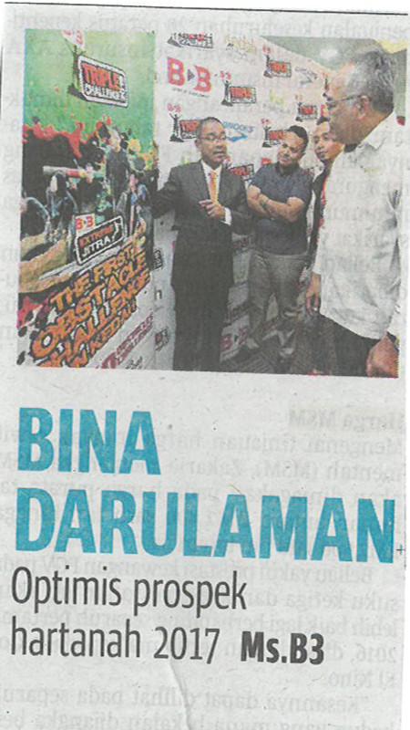 Bina Darulaman Optimis Prospek Hartanah 2017