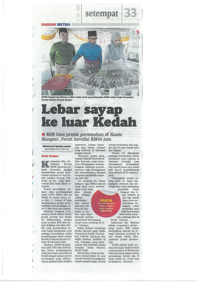 Lebar sayap ke luar Kedah