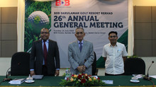 Mesyuarat Agung Tahunan (AGM) BDB Darulaman Golf Resort Berhad Ke-26