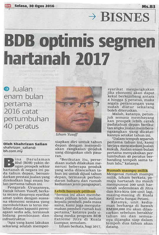 BDB Optimis Segmen Hartanah 2017