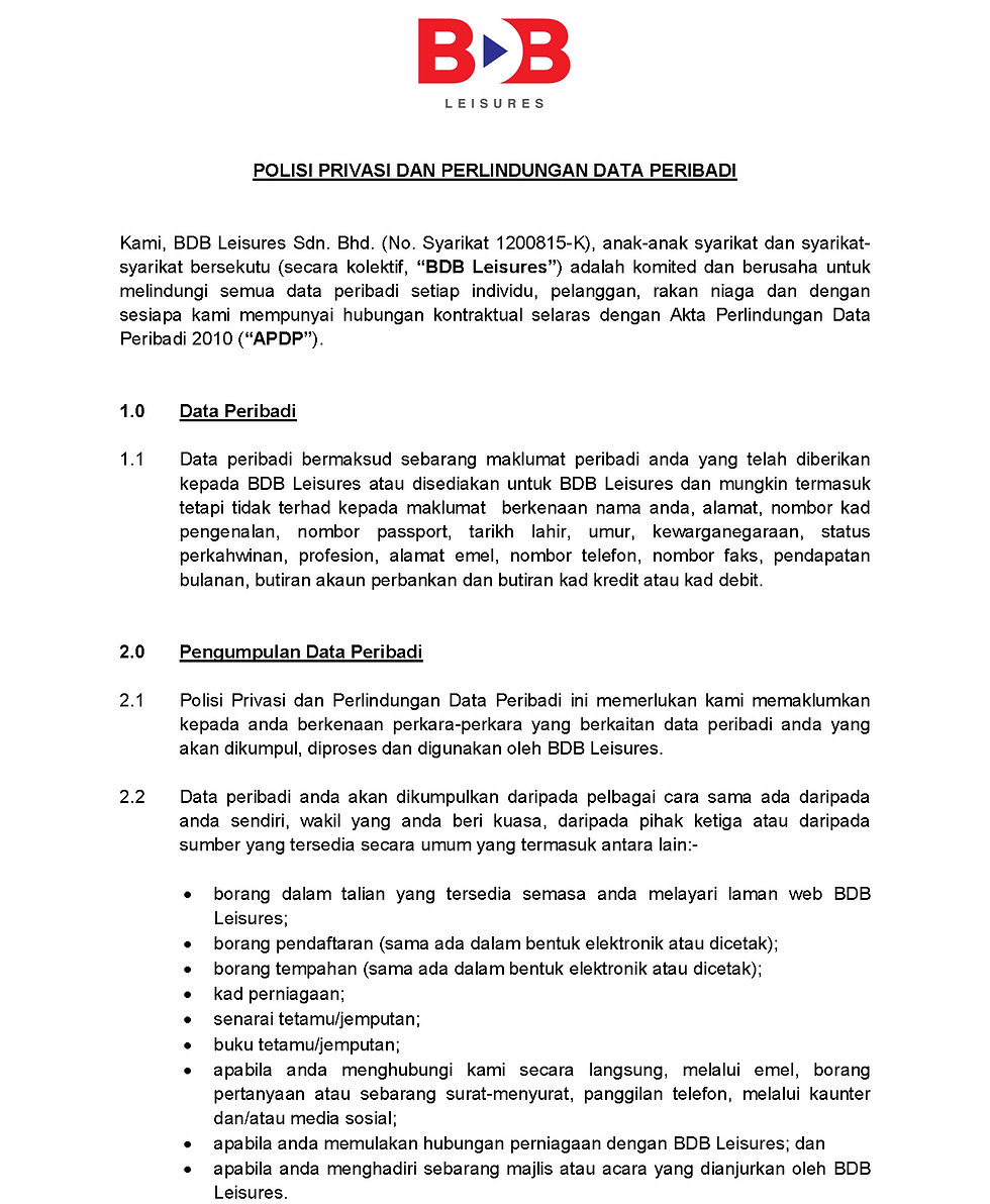 2A.PERSONAL DATA PROTECTION POLICY BDB L