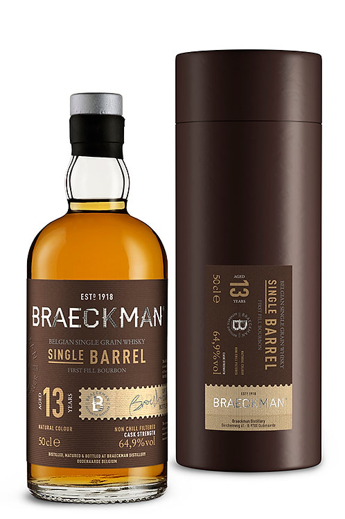 Braeckman Single Grain Whisky - Single Barrel - 13 Years - 64,9% - Cask°101