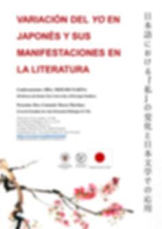 cartel charla literatura japonesa 2019.J
