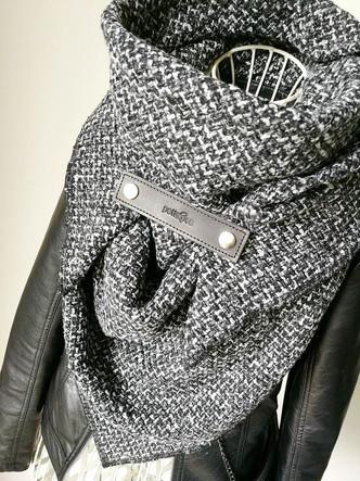 Maxi šátek pletenina