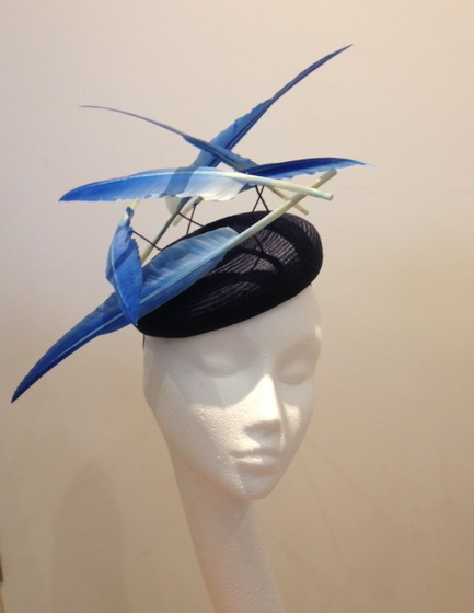 Floating feather headpiece