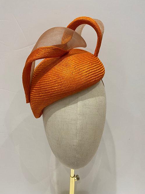 Maud - A fine parasisal orange percher hat
