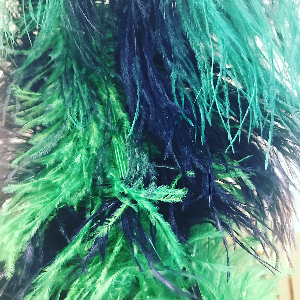 Dyeing Navy and Emerald Ostrich Feathers