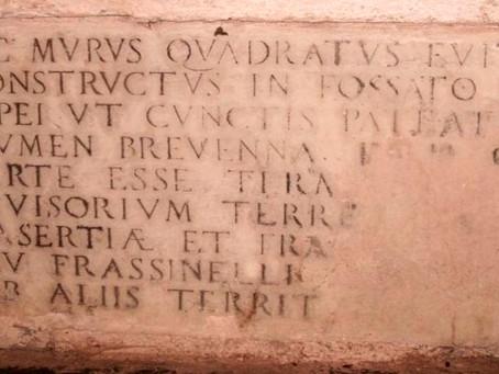 La pietra scritta de La Cà